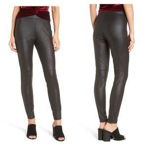 Trouve Black Faux Leather Leggings